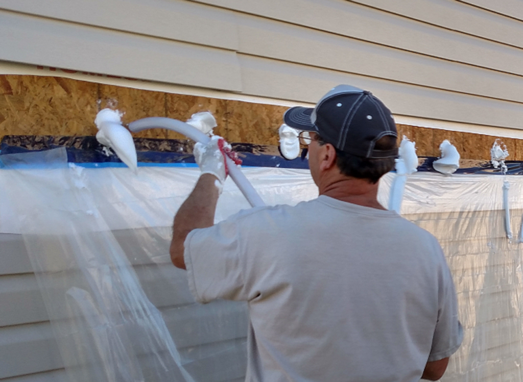 exterior injection wall insulation