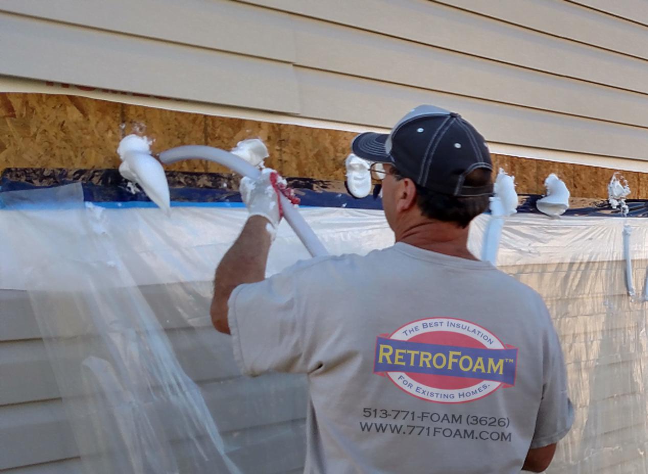 injection foam wall insulation installation outside cincinnati retrofoam